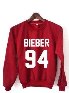 Justin Bieber Sweatshirt Justin Bieber Sweaters Bieber 94 Logo