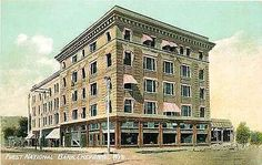 Cheyenne Wyoming 1908 First National Bank Collectible Antique Vintage Postcard