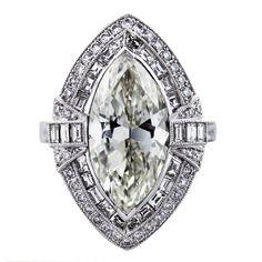 5 Carat Marquise Cut Diamond Platinum Engagement Ring-Boca Raton