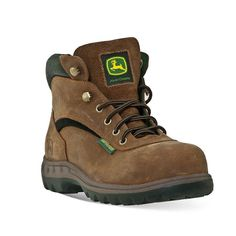 John Deere Women's Waterproof Hiking Boots, Size: 8 Wide, Brown