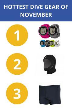The hottest dive gear of November Diving, Gears, November, Hot, Scuba Diving, Gear Train