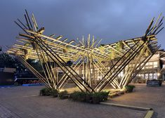 Penda's bamboo pavilion could be expanded to create homes for 200,000 people.