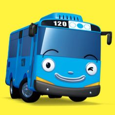 Tayo the Little Bus Trendy Wallpaper, Photo Wallpaper, Bedroom Wallpaper, Bus Cartoon, Car Cake Toppers, Tayo The Little Bus, Transportation Party, Hawaiian Party Decorations, Awesome Bedrooms