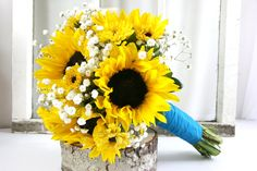 Sunflower & Babys Breath Bouquet