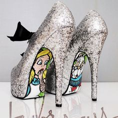 Cute Alice in Wonderland Heels! how about these for under your wedding gown!?