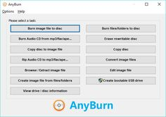 AnyBurn (PORTABLE) 3.6 AnyBurn is a light weight but professional CD / DVD / Blu-ray burning software that everyone must have. It provides a free and complete solution for burning. It is completely free. You needn't pay for this Free Burn software! #computers #software #freeware #opensource