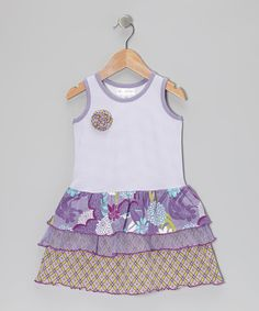 Take a look at this Lily Cake Lavender Water Garden Tier Dress - Toddler & Girls on zulily today!