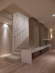 Inventive Staircase Design Tips for the Home – Voyage Afield Staircase Lighting Ideas, Staircase Design, Home Design Plans, Home Interior Design, Style At Home, Modern Home Offices, Stair Walls, Plafond Design, Modern Stairs