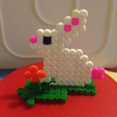 Easter hama beads by marisalcraft Fuse Bead Patterns, Beading Patterns, Pearler Beads, Fuse Beads, Easter Crafts, Christmas Crafts, Iron Beads, All Craft, Spring Crafts