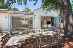 Beautiful Farmhouse Style Ranch Home designed for Outdoor Living - remodeled by LMK Interiors.