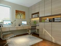 Study room - Rezt n Relax Small Home Offices, Home Office Space, Home Office Desks, Loft Office, Home Library Rooms, Study Room Design, Muebles Living, Pinterest Home, Trendy Home