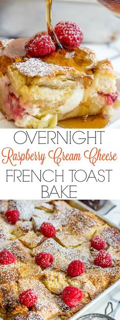 Raspberry Cream Cheese French Toast Bake
