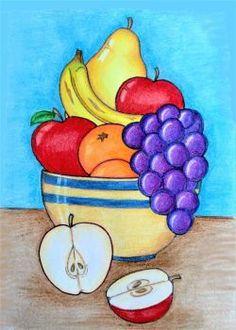 Oil Pastel Drawings Easy, Easy Drawings For Kids, Art Drawings Sketches Simple, Colorful Drawings, Scenery Drawing For Kids, Sketch Drawing, Painting For Kids, Art For Kids, Soft Pastel Art