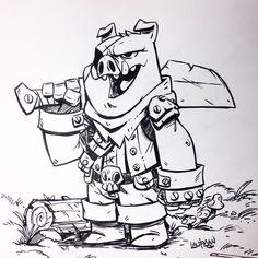 221 Best Dino drawing images in 2019 Cartoon Design, Cartoon Styles, Cartoon Art, Pig Character, Sketch Design, Character Design Inspiration, Art Sketches, Sketch Ink, Inktober