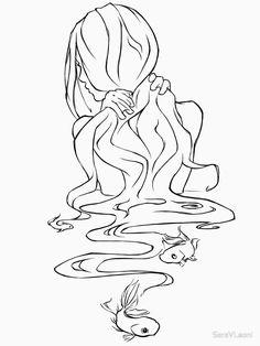 girl in water ~ girl in water - girl in water drawing - girl in water photography - girl in water painting - girl in water art - girl in water aesthetic - girl in water tattoo - girl in water sketch Water Drawing, Water Art, Water Sketch, Fish Sketch, Manga Drawing, Fantasy Drawings, Art Drawings Sketches, Artwork Drawings, Mermaid Drawings
