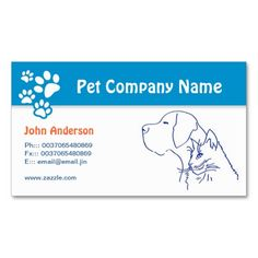 Pet care Pet veterinary or grooming business card. This is a fully customizable business card and available on several paper types for your needs. You can upload your own image or use the image as is. Just click this template to get started!