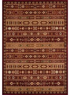 This Belmont Red Collection earth tone rug (BE-04) is manufactured by Momeni. Inspired by Persian textiles and antique rugs, Belmont is traditional collection power-loomed of polypropylene, with machine finishing.