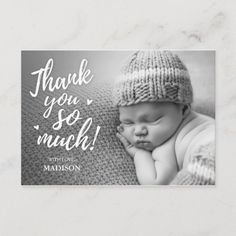 Newborn Thank You Cards Cute Thank You Cards, Baby Shower Thank You Cards, Baby Cards, Baby Boy Photos, Newborn Pictures, Baby Pictures, Birth Announcement Girl, Announcement Cards, Birth Announcements