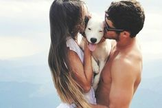 Hope my future husband is ready to do this when we get our Labrador. Cutest picture ever!