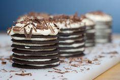 Chocolate Cream Cheese Icebox Cupcakes