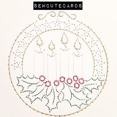 Candle Globe Christmas Card by Sew Cute Cards www.fb.com/sewcutecards http://sewcute.storenvy.com