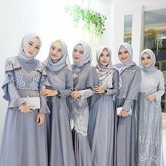 Inspired by cute silver hijab look Kebaya Hijab, Kebaya Dress, Kebaya Muslim, Muslim Dress, Kebaya Modern Hijab, Hijab Dress Party, Hijab Style Dress, Hijab Wedding Dresses, Dress Outfits
