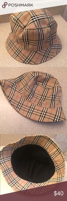 Plaid Reversible Bucket Hat Burberry Inspired Reversible Bucket Hat. Excellent Condition Accessories Hats