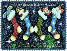 CC101 - Stocking Stuffers Ornaments - E Pattern - pinned by pin4etsy.com