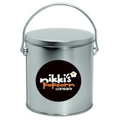 Buy 1 Gallon Platinum Gourmet Popcorn Gift Tins in Dallas at Nikkis Popcorn. Fill your tin with any flavors you like! Candy Gift Baskets, Candy Gifts, Gourmet Popcorn, Popcorn Tins, Popcorn Company, Bulk Candy, Tin Gifts, Products