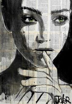 "Saatchi Art Artist: Loui Jover; Ink 2013 Drawing ""undine"" This."