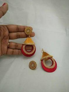 Designer silk thread ear rings