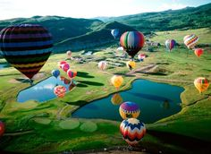 Pretty hot air ballons