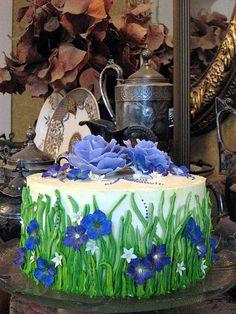 Field of Flowers Cake