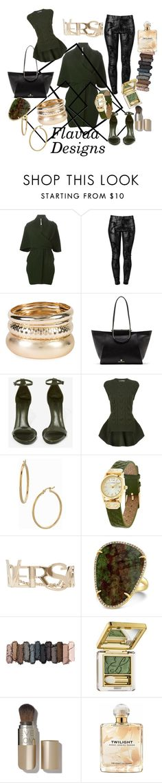 """Untitled #275"" by flavaadesignsllc ❤ liked on Polyvore featuring Sybilla, J APOSTROPHE, Vince Camuto, Schutz, Alexander McQueen, Bony Levy, Isaac Mizrahi, Versace, Urban Decay and Estée Lauder"