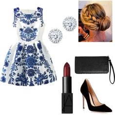 Untitled #2 by clounouc on Polyvore featuring polyvore fashion style Gianvito Rossi Avenue Kobelli NARS Cosmetics