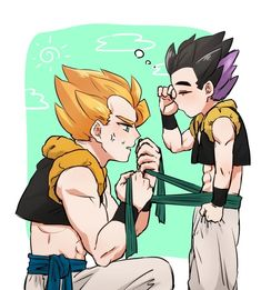 Dbz, Gohan And Goten, Gogeta And Vegito, Son Goku, Father And Son, Jojo Bizarre, Jojo's Bizarre Adventure, Dragon Ball Z, Geek Stuff