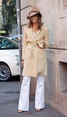 Roitfeld Beauty Secret:Confidence - Journal - I Want To Be A Roitfeld, funny+classy+beige+white flares