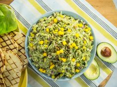 Get Guacamole Chicken Salad Recipe from Food Network - Salad Recipes Guacamole Chicken Salad Recipe, Chicken Salad Recipe Food Network, Chicken Salad Recipes, Food Network Recipes, Guacamole Salad, Salad Chicken, The Kitchen Food Network, Kitchen Recipes, Cooking Recipes