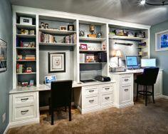 built in desk for office   Built In Desk Design, Pictures, Remodel, Decor and ...   Office Remod ...