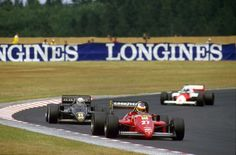 Michele Alboreto won the first German GP at the new, short, less-fever Nürburgring for Ferrari