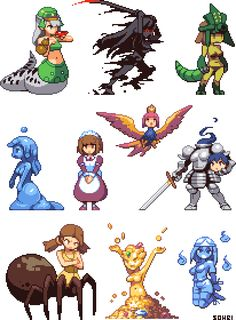 Monster Girl Sprites Part 2 by iSohei.deviantart.com on @DeviantArt