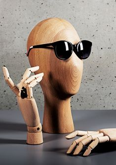 f020fde89a97 Mannequin hands displays made from fibreglass and wood