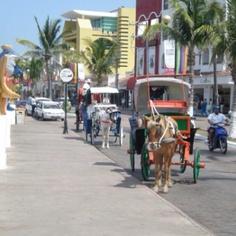 Cozumel, Mexico -Main street.