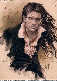 Marcus the vampire who falls in love with hybrid Ri! Victoria Frances definitely artwork i like, similar to Luis royo, and boris vallejo. Vampire Love, Female Vampire, Gothic Vampire, Vampire Art, Vampire Fangs, Vampire Hunter, Boris Vallejo, Dark Fantasy, Victoria Frances