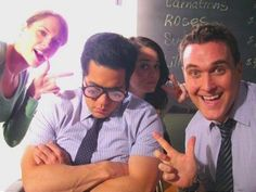 The Mentalist BTS... Cast is up to no good... Where's Simon?