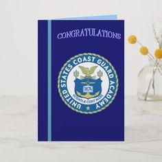 dbe6a994abd Coast Guard Academy Graduation Card #graduation #congratualtion #cards Coast  Guard Academy, Graduation