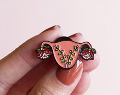 Uterus Enamel Pin Feminist Enamel Pin- Blooming Uterus Feminist Gift Cuterus Women' Rights Reproductive Rights Girl Power Art Baby Shower Bag Pins, Jacket Pins, Pin And Patches, Jacket Patches, Hard Enamel Pin, Pin Enamel, Cool Pins, Pin Badges, Pin Collection