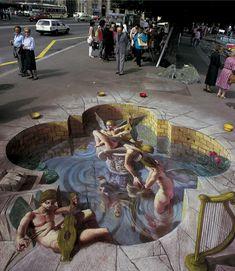 optical illusion art   Awesome Street Art : 3D Optical illusion by Kurt Wenner