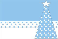 Kit para Festas - Poá Azul e Branco