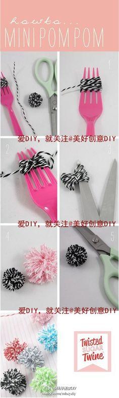 Cute way to make pom poms.